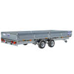 LM166 Ifor Williams Flatbed Trailer