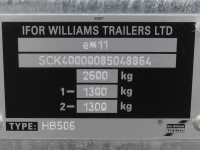 Chassis Number - Westwood Ifor Williams Chassis Number