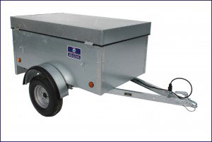 Economy Car Trailer Non Ifor Williams, Westwood New Trailers, 5' x 3' Hinged Lid - 500kg