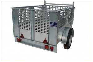 Economy Car Trailer Non Ifor Williams, Westwood New Trailers, 5'10 x 4'1 Mesh Sides - 750kg