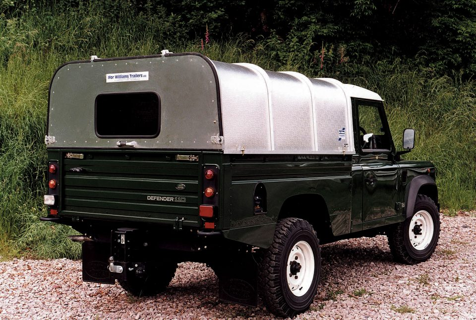 Defender Ifor Williams Canopy, Westwood New Trailers,