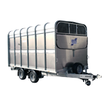 DP120G 12 Ifor Williams Livestock, Westwood New Trailers, Front