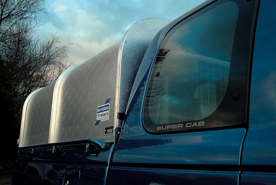 Ford Ranger Ifor Williams Canopy, Westwood New Trailers, Side View