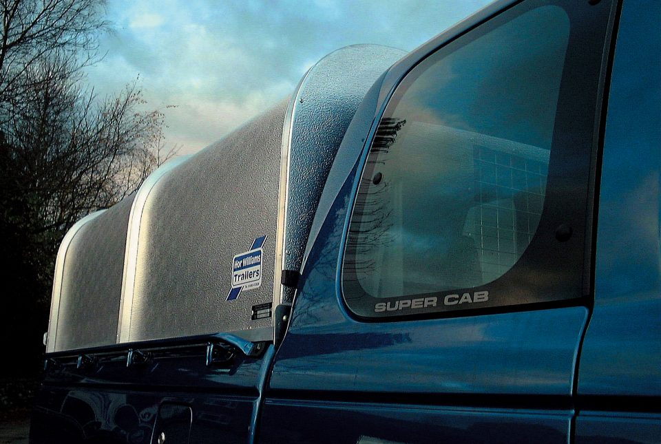 Ford Ranger Ifor Williams Canopy, Westwood New Trailers, Side View,