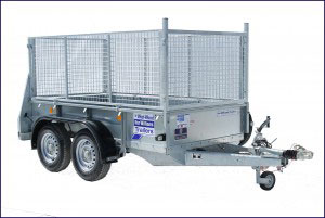 GD84 Ifor Williams General Duty, Westwood New Trailers, Twin Axle Tailboard & Mesh Front