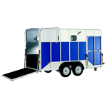 HB610XL Ifor Williams Double Horsebox Trailer.
