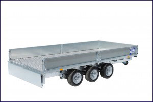 LM166 Tri Ifor Williams Flatbed, Westwood Trailers,