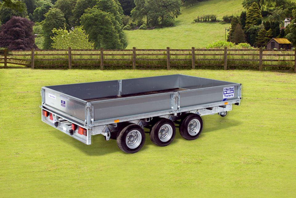 LM126 Tri Ifor Williams Flatbed, Westwood New Trailers,