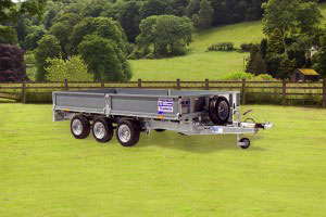 LM146 Tri Ifor Williams Flatbed, Westwood New Trailers,