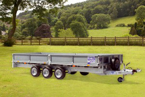 LM166G TRI Ifor Williams Flatbed, Westwood New Trailers,