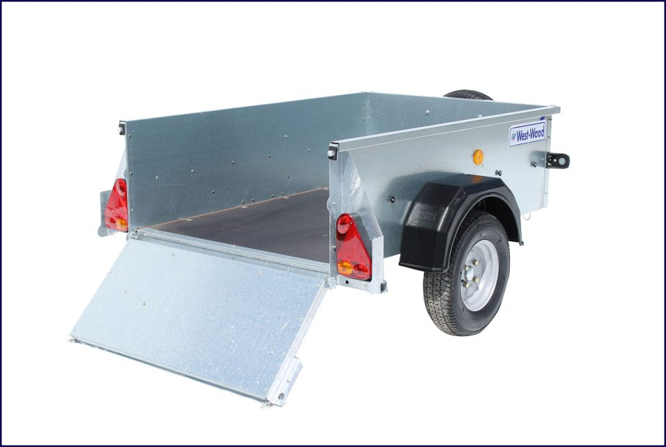 P5e Ifor Williams Small Unbraked, Westwood New Trailers, Tailboard