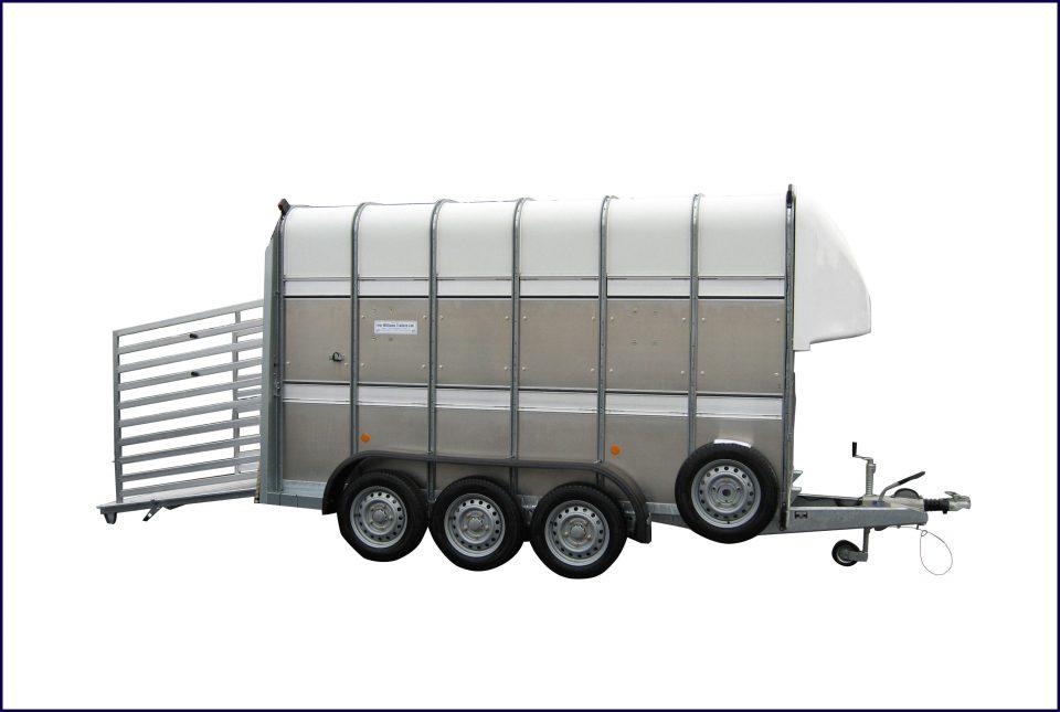 TA510 Ifor Williams Livestock, Westwood New Trailers, 12 X 7 TRI AXLE