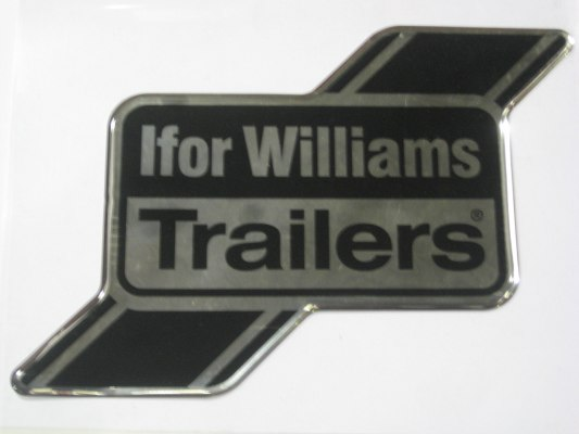 Sticker - IWT Bubble Logo HB506 HB511 Front (Black and Silver)