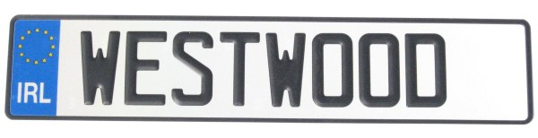 Number Plate Long (520mm x 110mm)