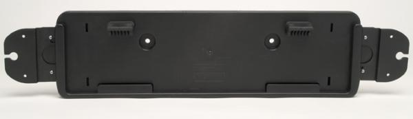 Number Plate Holder Long Black PVC