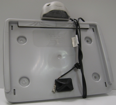 Number Plate Holder (Square) Silver c/w Lamp